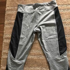 Gray and black yoga Capris